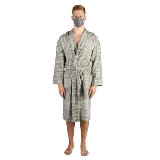 Bathrobe for men and women in l-xl, black, cotton, zoeppritz Sunny Leg