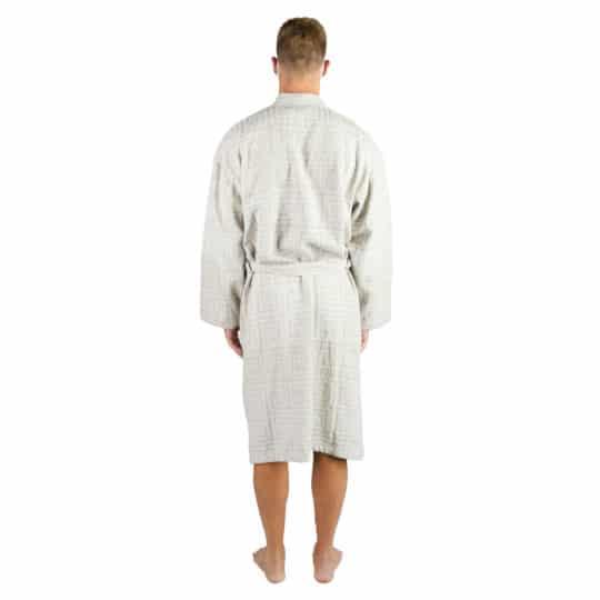 Bademantel fuer Herren und Damen in L-XL, weiss aus Baumwolle, zoeppritz Sunny Leg