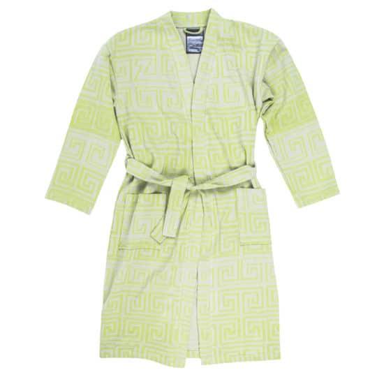 Bathrobe for men and women in l-xl, acid green, cotton, zoeppritz Sunny Leg