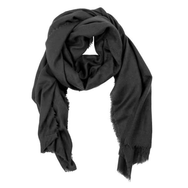 Schal aus Wolle und Kaschmir fuer Damen und Herren, grau in 100x200cm, zoeppritz Craft