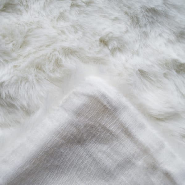 Cushion cover from fake fur, white in 30x40cm, zoeppritz Serenity
