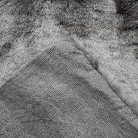 Cushion cover from fake fur, grey in 40x60cm, zoeppritz Serenity