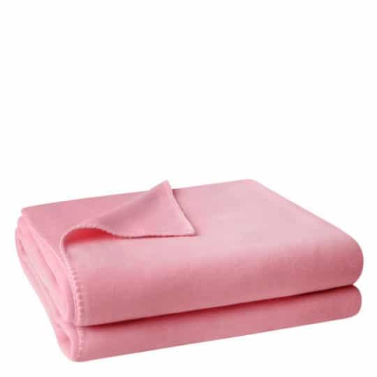 Flauschige Decke fuer Sofa und Couch, rosafarben in 110x150cm, zoeppritz Soft-Fleece