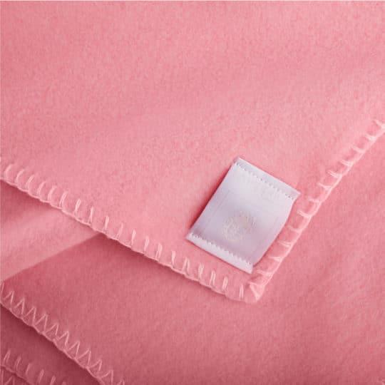 Blanket 110x150cm in pink color, zoeppritz Soft-Fleece