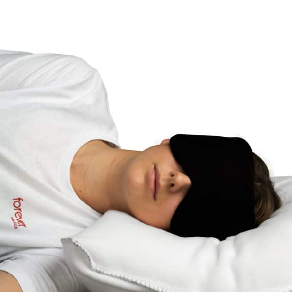 Schlafmaske aus Modal Baumwolle und Seide fuer Frauen und Maenner in schwarz, zoeppritz Close Them
