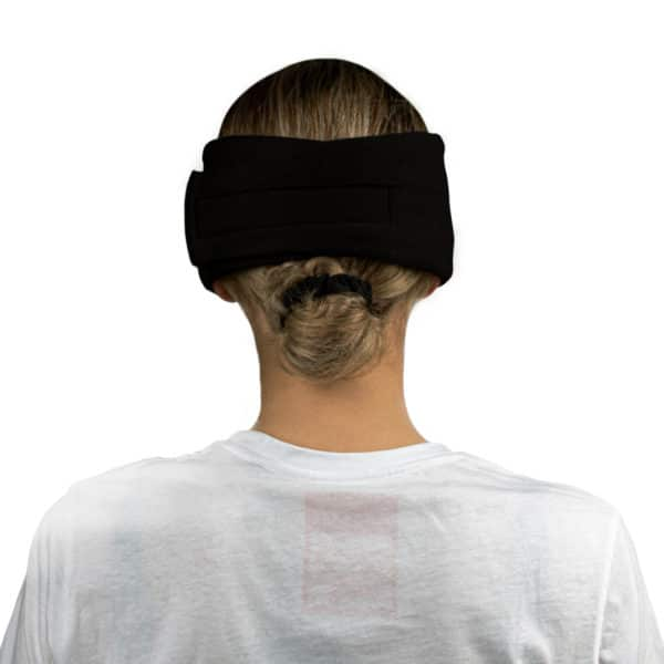 Sleep mask from modal cotton and silk for women and men in black, zoeppritz Close Them
