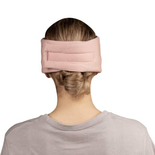 Sleep mask from modal cotton and silk for women and men in rose, zoeppritz Close Them