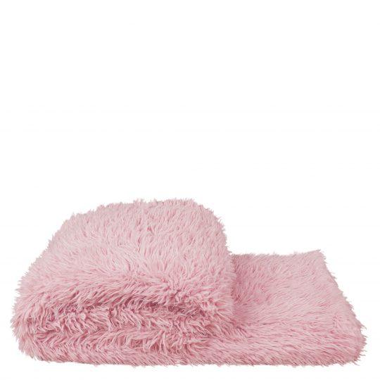 Kunstfelldecke, rosa aus Polyester, 140x190cm, zoeppritz Reborn