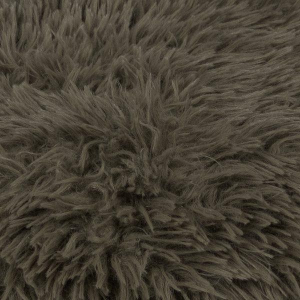 Faux fur blanket, militarygreen from polyster, 140x190cm, zoeppritz Reborn