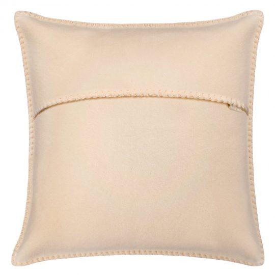 zoeppritz weicher soft fleece kissenbezug 40x40 creme beige