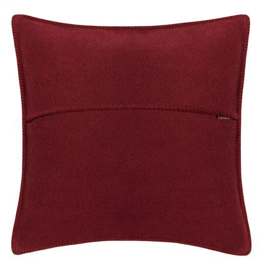 zoeppritz weicher soft fleece kissenbezug 40x40 wein rot