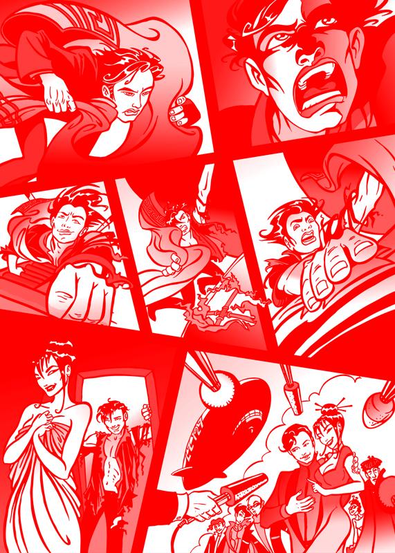 Zweiter Teil des Comics zur Rettung des LZ127 Luftschiffes