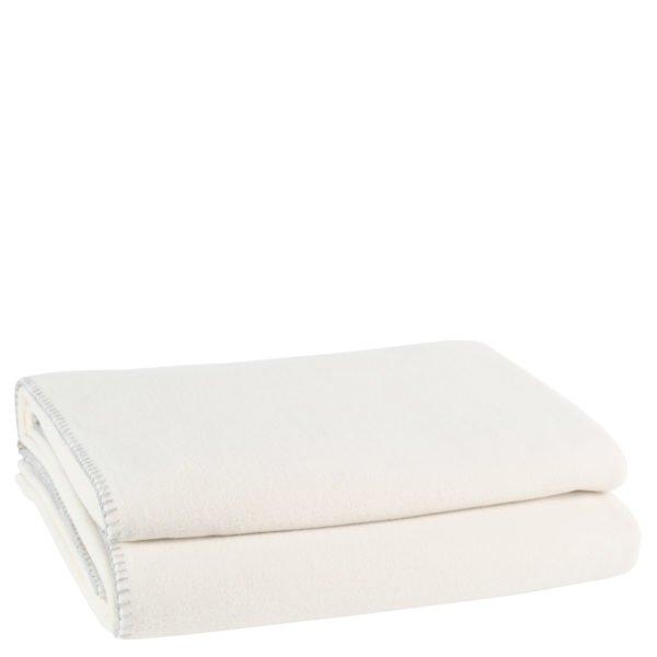 zoeppritz weiche soft fleece decke 220x240 dunkles weiss