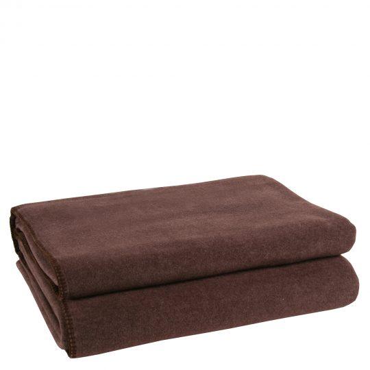 zoeppritz weiche soft fleece decke 220x240 dunkelbraun
