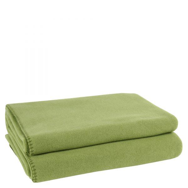 zoeppritz weiche soft fleece decke 220x240 gruen