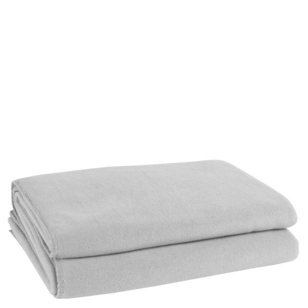 zoeppritz weiche soft fleece decke 220x240 hellgrau grau melliert