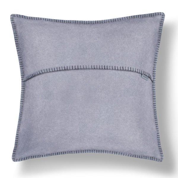 zoeppritz weicher soft fleece kissenbezug 50x50 titan grau