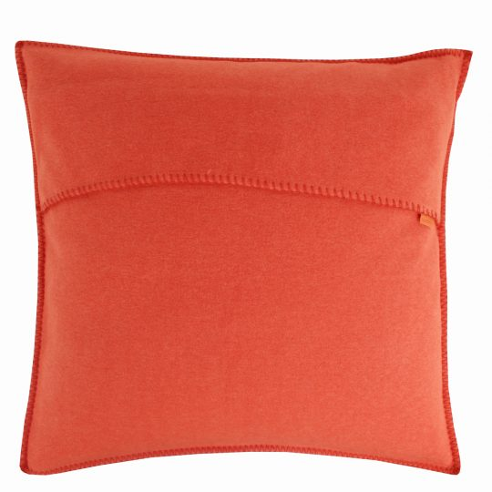 zoeppritz weicher soft fleece kissenbezug 40x40 papaya orange