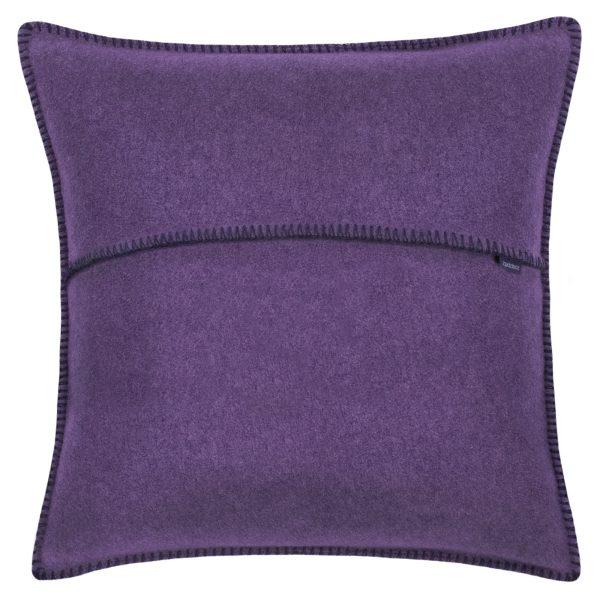 zoeppritz weicher soft fleece kissenbezug 40x40 aubergine lila