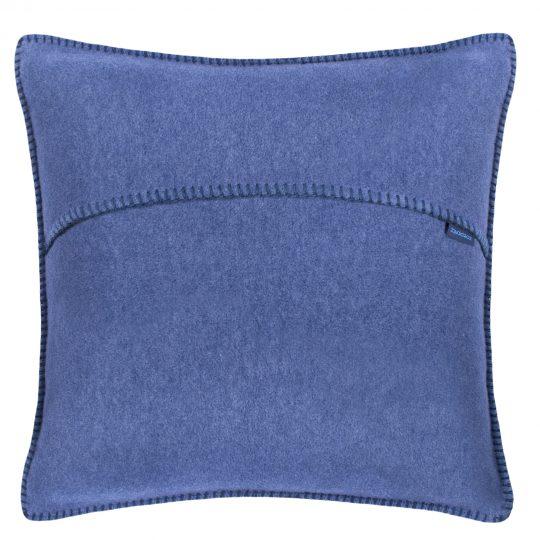 zoeppritz weicher soft fleece kissenbezug 40x40 indigo blau