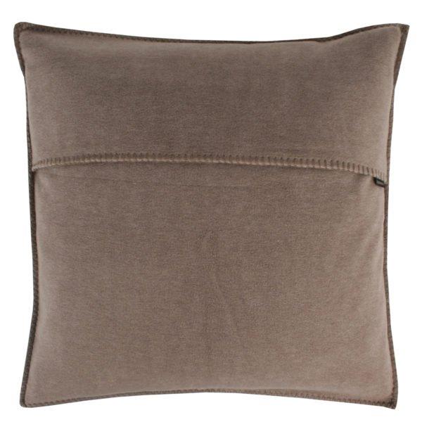 zoeppritz weicher soft fleece kissenbezug 40x40 rauch braun
