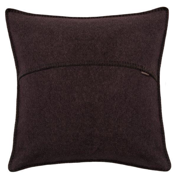 zoeppritz weicher soft fleece kissenbezug 40x40 dunkelbraun