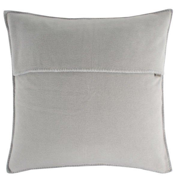 zoeppritz weicher soft fleece kissenbezug 40x40 hellgrau grau melliert