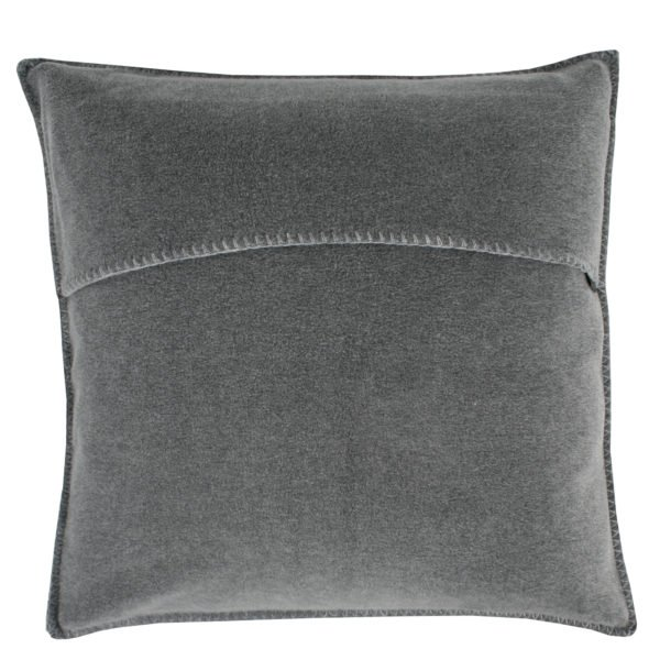 zoeppritz weicher soft fleece kissenbezug 40x40 mittelgrau grau melliert