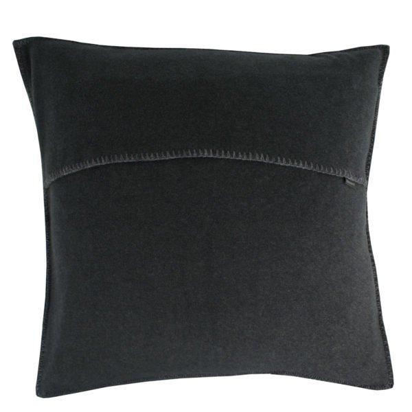 zoeppritz weicher soft fleece kissenbezug 40x40 anthrazit melliert