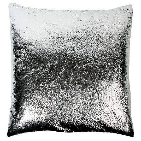 crack zoeppritz  kissenbezug 70x70 silber grau