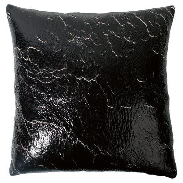 crack zoeppritz  kissenbezug 70x70 schwarz