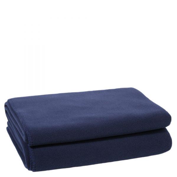 zoeppritz weiche soft fleece decke 220x240 dunkles marine blau