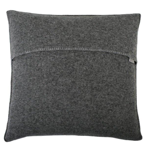soft wool zoeppritz viscose schurwoll kissenbezug 50x50 titan grau
