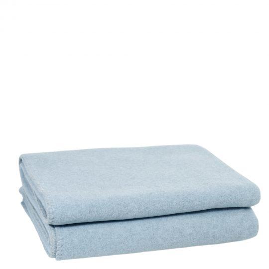 soft wool zoeppritz viscose schurwoll decke 160x200 pudriges blau