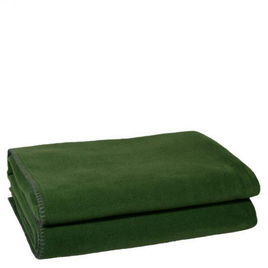 zoeppritz weiche soft fleece decke 220x240 dunkles jade gruen