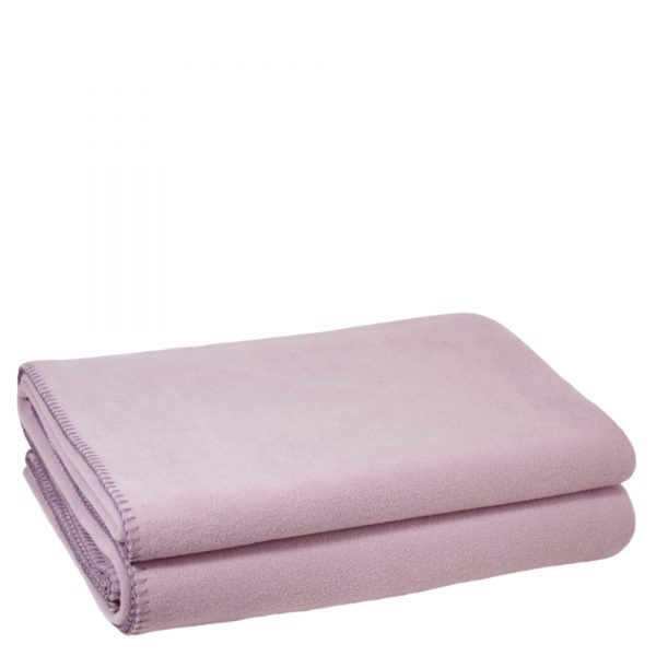 zoeppritz weiche soft fleece decke 220x240 blasses lavendel lila
