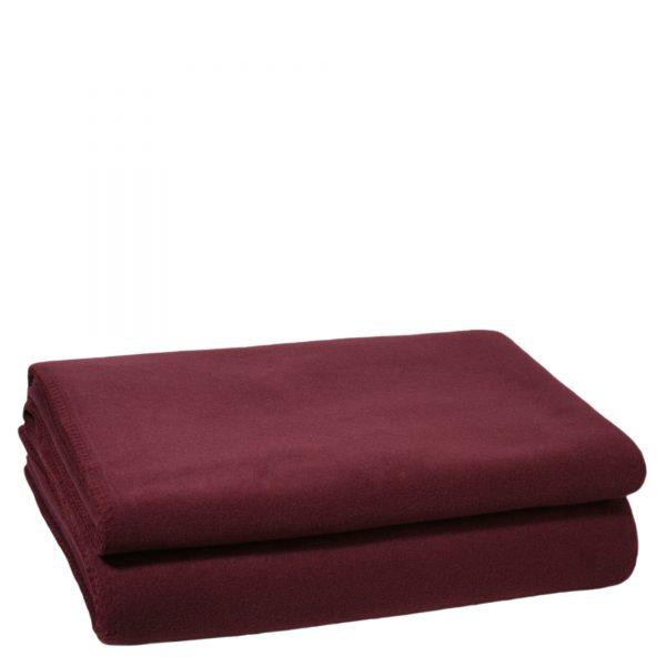 zoeppritz weiche soft fleece decke 220x240 wein rot