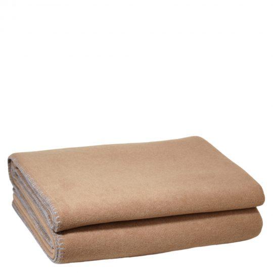 zoeppritz weiche soft fleece decke 220x240 sahara braun