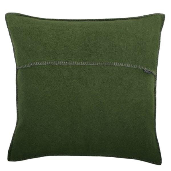 zoeppritz weicher soft fleece kissenbezug 50x50 dunkles jade gruen