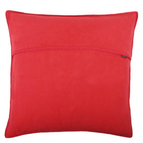 zoeppritz weicher soft fleece kissenbezug 50x50 geranien rot