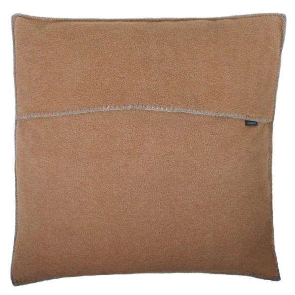 zoeppritz weicher soft fleece kissenbezug 50x50 sahara braun