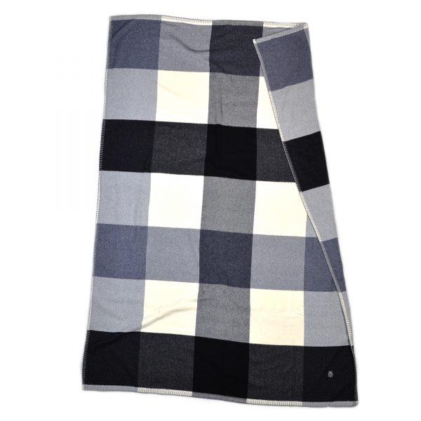 cube zoeppritz schurwoll decke 130x190 schwarz