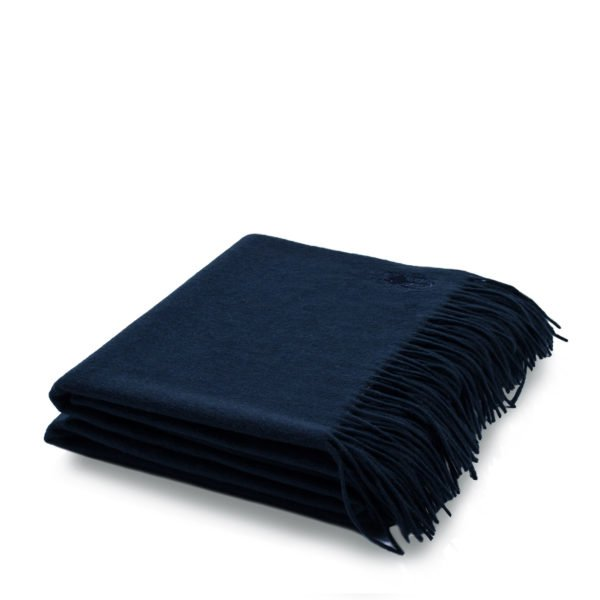 imagine zoeppritz cashmere plaid 130x180 navy blau