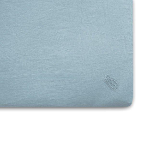 stay zoeppritz leinen spannbettlaken wasser blau