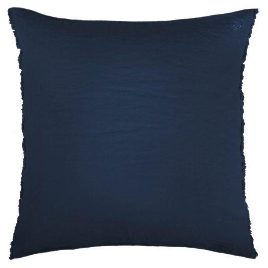 stay here zoeppritz leinen kopfkissenbezug dunkles marine blau