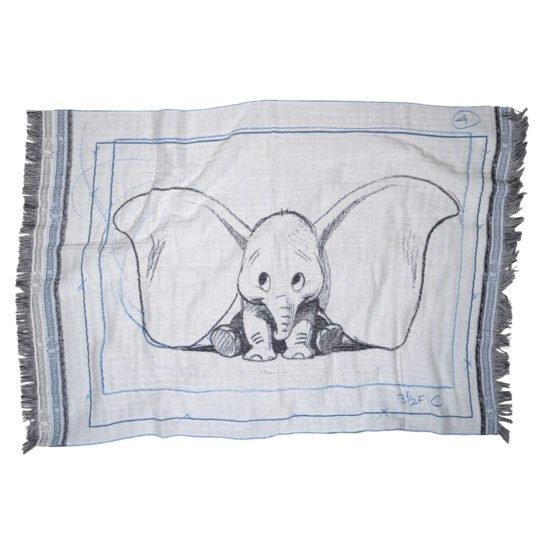 disney mickey dumbo ears zoeppritz baumwolle decke 75x110 azur blau disney decke