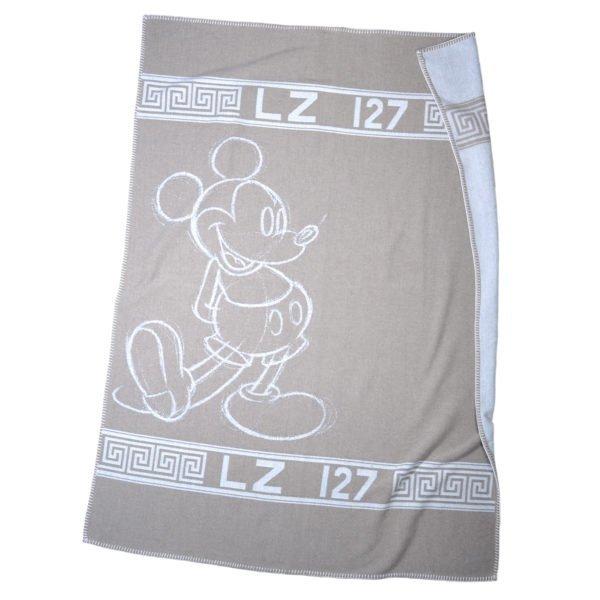 mickey hero zoeppritz schurwolle cashmere decke 140x190 rauch braun disney decke