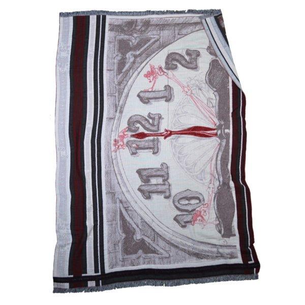 mickey clock zoeppritz baumwoll decke 145x210 farbmix disney decke