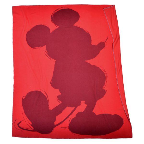 mickey soft mouse zoeppritz  decke 160x200 geranien rot disney kuscheldecke