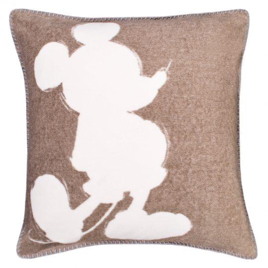 mickey soft mouse zoeppritz viscose kissenbezug 50x50 rauch braun